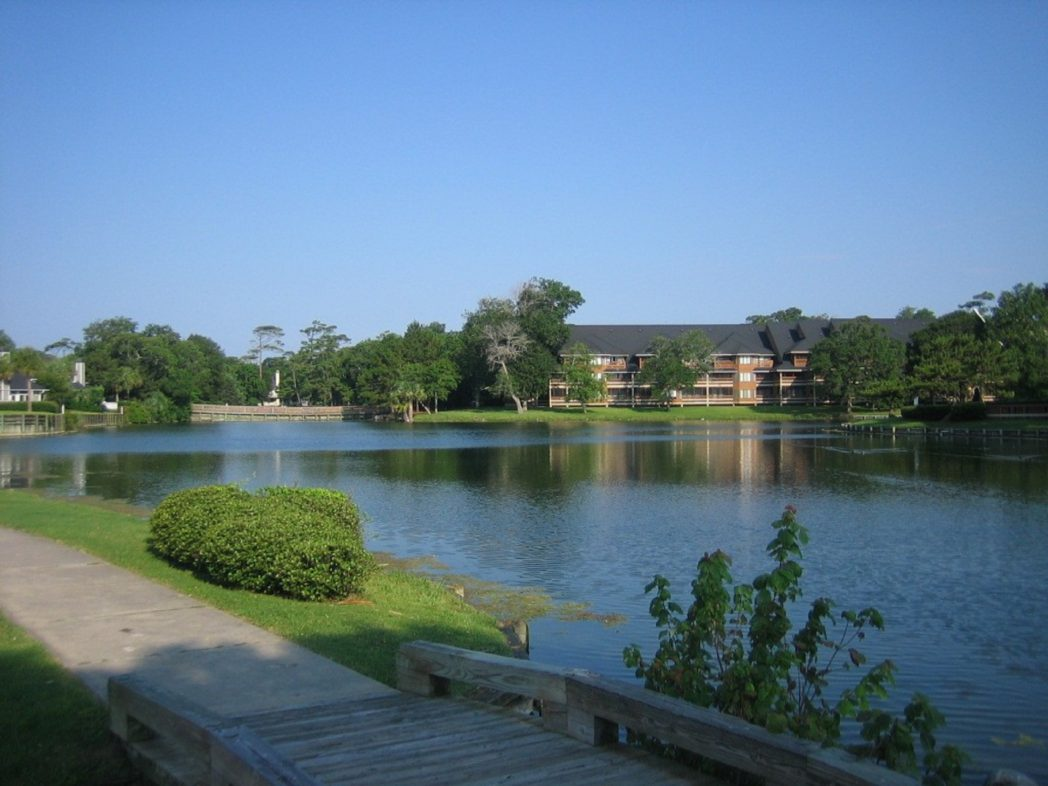 Lagoon in Kingston Plantation, South Hampton, Myrtle Beach S.C.